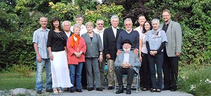Gruppenfoto mit dem Anklamer Bürgermeister Michael Galander und Gästen aus Heide und Limbazi 2012