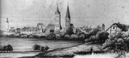 Anklam Stadtansicht um 1850